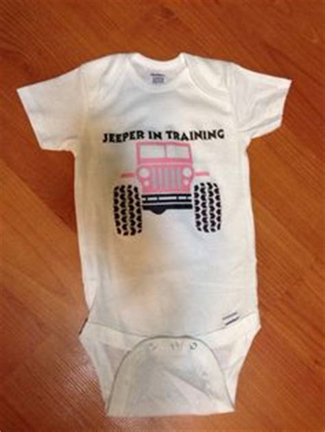 Jeep baby onesie jeeper in training by jdbabytique on etsy