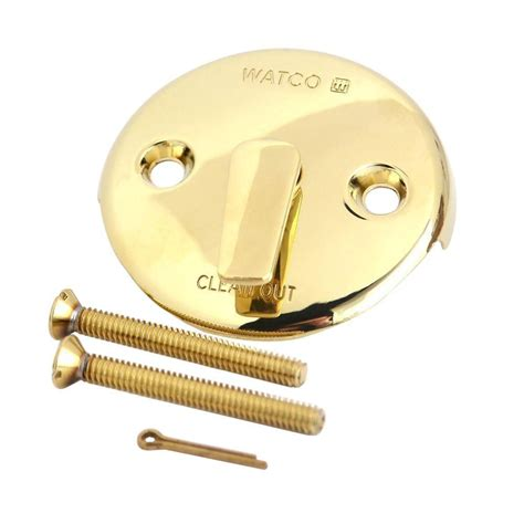 watco bathtub faucets watco trip lever bathtub overflow plate kit polished