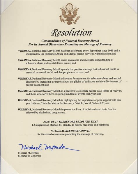 student congress resolution template proclamations recoverymonth gov