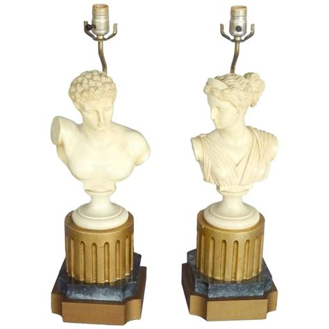 Bust Tables pair of god bust table ls at 1stdibs