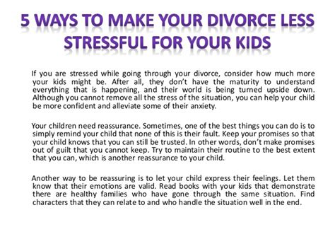 divorcing well getting through your divorce with less stress and lower costs helpful tips to protect your children your savings and your sanity books 5 ways to make your divorce less stressful for your