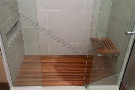 Custom Teak Shower Mat by Teak Wood Mat Custom Order By Flooringsupplyshop