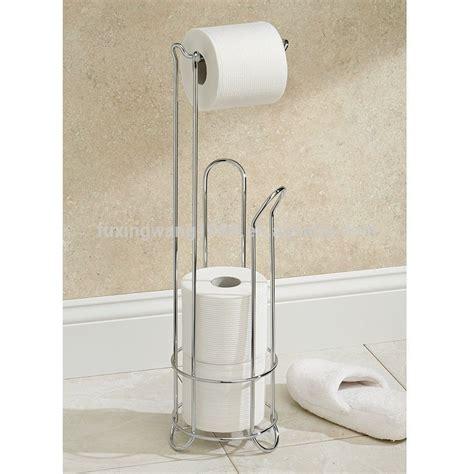 toiletries holder bathroom bathroom toilet tissue paper roll holder metal floor stand
