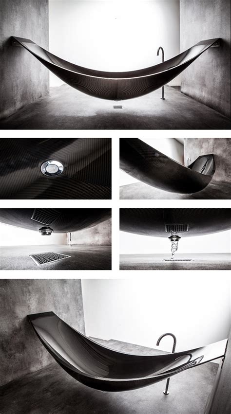 Carbon Fiber Bathtub by Cool Thing We Want 390 A Hammock Shaped Bathtub Made Out Of Carbon Fiber Scout Magazine