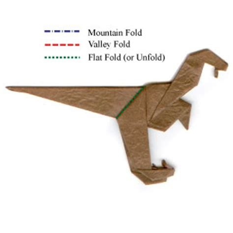 How To Make An Origami Velociraptor - how to make a simple origami velociraptor page 10
