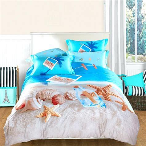 beach themed comforter set tropical island themed bedding ocean blue beige and brown