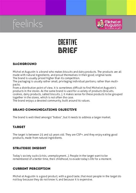 marketing brief template creative brief
