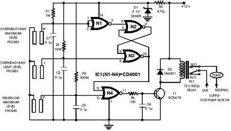 rangkaian kapasitor pompa air cara membuat skema rangkaian kontrol pompa air otomatis corelita
