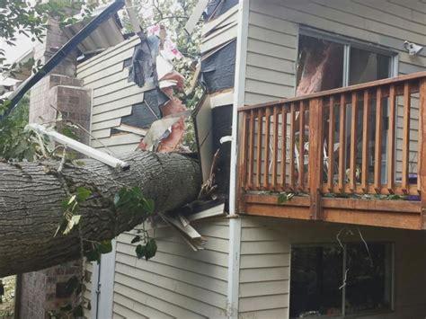 falling tree splits washington home in half narrowly misses family inside abc news