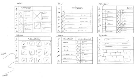 sketch app scrobbler tablet mobile app design sketches