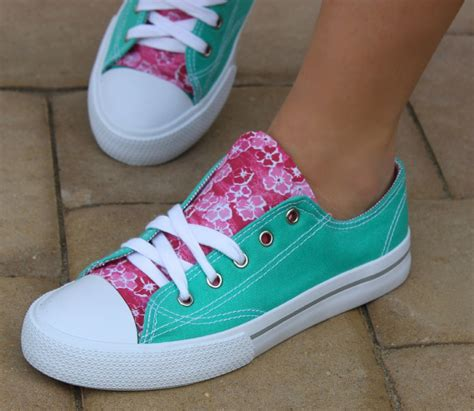 fabric crafts diy fabric accent sneakers a craft in your day