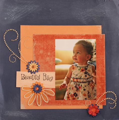 photography scrapbook layout ideas beautiful baby a simple scrapbook page layout idea