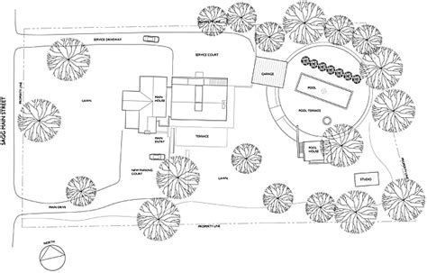 house site plan htons cottages gardens idea house 2008 first