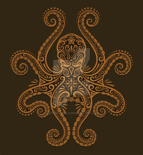 brown octopus design by jeff bartels on deviantart