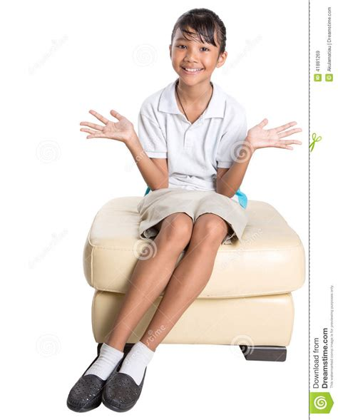 girl sitting on couch school girl sitting on couch vii stock photo image 41881269