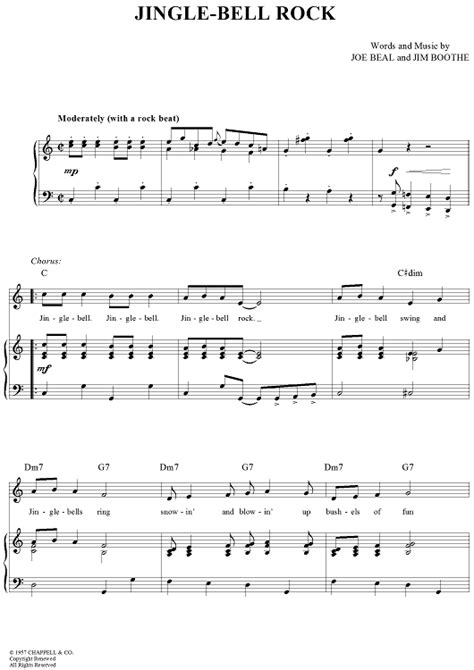 song rock jingle bell rock sheet for piano and more