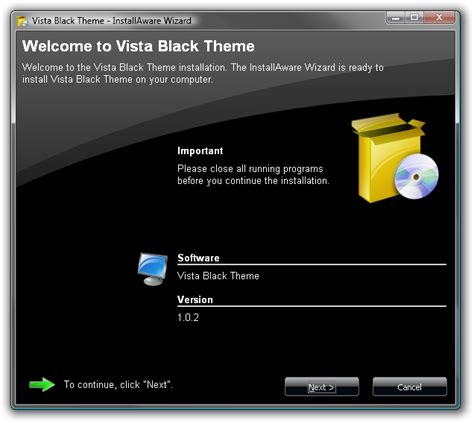black vista themes vista black dialog theme