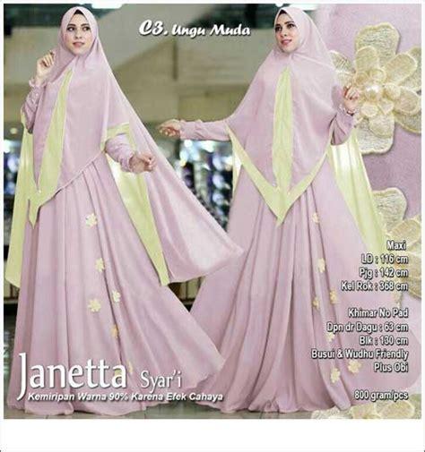 Syari Janetta by Supplier Baju Pesta Muslim Bahan Ceruti Premium