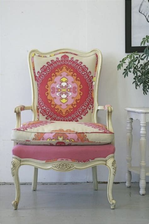 Antique Chair Upholstery by Reupholstered Antique Chair Diy