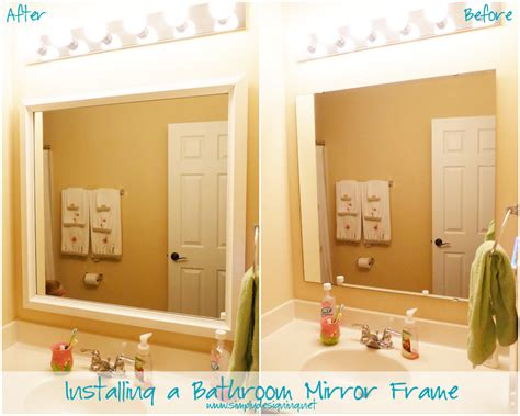 installing a bathroom mirror installing bathroom mirror frames