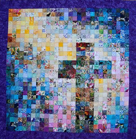 watercolor cross pattern watercolor christian cross quilt bright colors made to