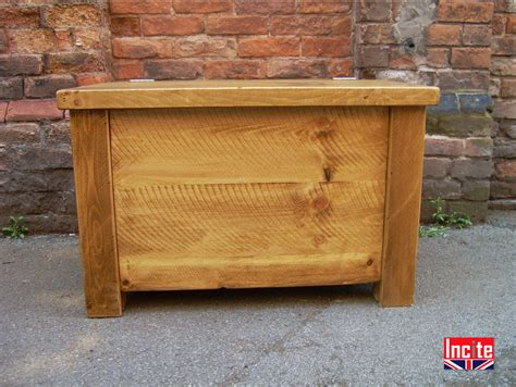 Handmade Pine Furniture - plank blanket boxes and ottomans handcrafted by incite