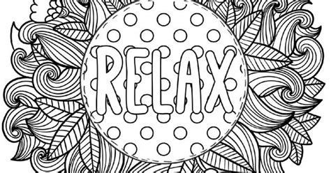 relax coloring pages relax coloring page for grown ups this is a printable pdf coloring page from to color