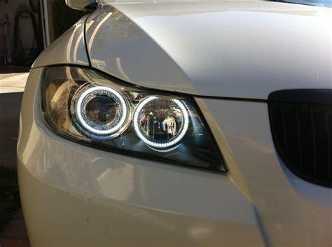 bmw e90 headlights depo factory seal 06 08 bmw e90 e91 4d led angel halo