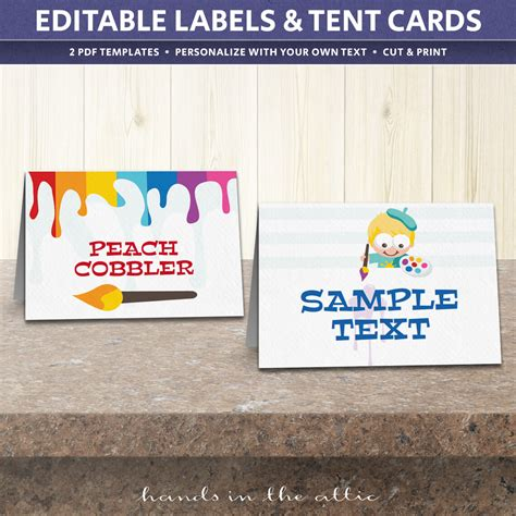 template for place cards celebrate it birthday tent cards template table place cards
