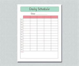top 5 free daily schedule templates word templates