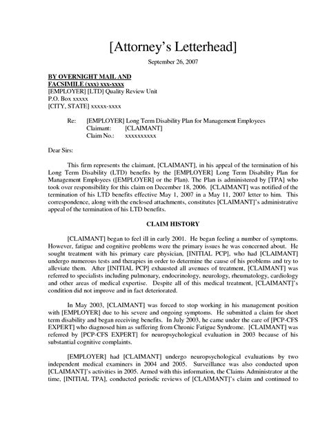 Appeal Letter For Disability Best Photos Of Social Security Appeal Letter Sle