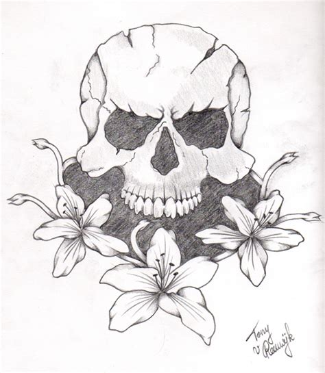 simple skull tattoos designs cliparts co