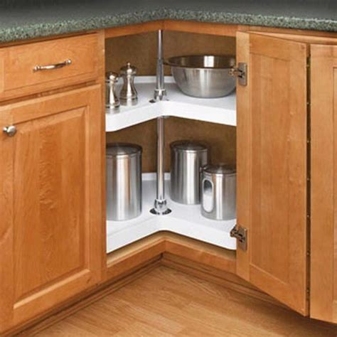 Kitchen Cabinets Direct From Manufacturer by Kidney Shaped 2 Shelf Corner Lazy Susans Rev A Shelf 6472