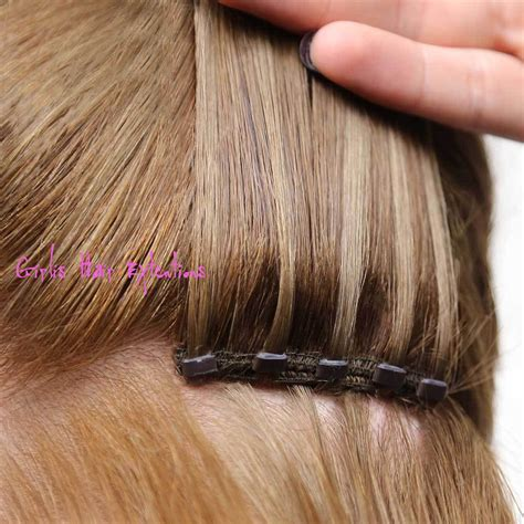 Micro Beaded Weft Hair Extensions Hair Salon