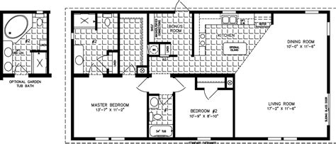 2 bedroom 2 bath mobile home floor plans two bedroom mobile homes l 2 bedroom floor plans