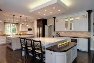 2 Island Kitchen Multi Functional Transitional Hinsdale Kitchen By Drury Design