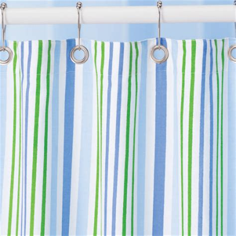 blue and green striped shower curtain kids bath baby bedding crib sets nursery decor