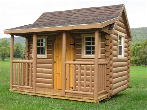 Single Car Garage Plans Log Cabins Myers Barn Shop