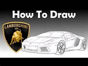 How To Make A Lamborghini How To Draw A Lamborghini Aventador Drawing Tutorial