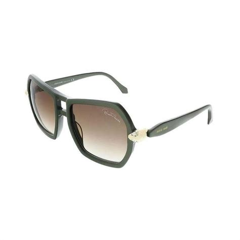 Roberto Cavali Green roberto cavalli sunglasses khaki green for sale at 1stdibs