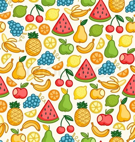 banana doodle wallpaper fruits doodle pattern in color stock vector colourbox