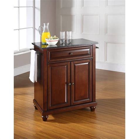 mahogany kitchen island crosley furniture cambridge black granite top mahogany