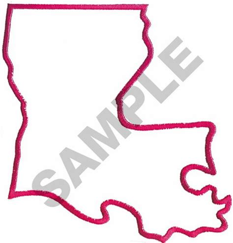 Louisiana Boot Outline by Outlines Embroidery Design Louisiana Outline From Great Notions