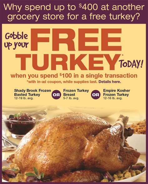 Free Thanksgiving Food Giveaway - acme markets 2013 free thanksgiving holiday offer frugal philly mom blog deals