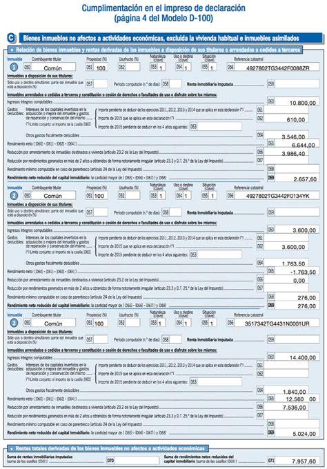 declaracion de renta 2015 ejemplo c 243 mo desgravar tu alquiler en la renta 2015 enalquiler com