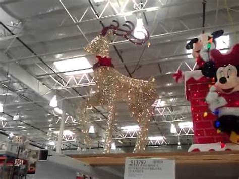 costco christmas decorations outdoors lighted deer led lights costco