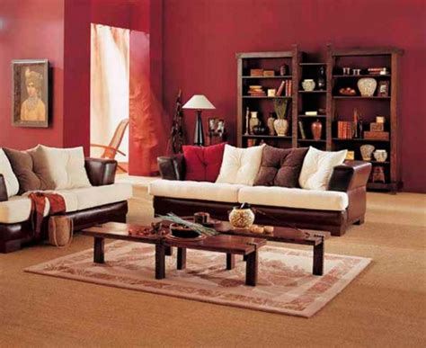 brown and red living room ideas simple living room design with brown white sofa wooden