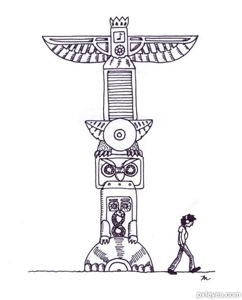 totem pole design template and cd drawing contest 18289 pictures page 1