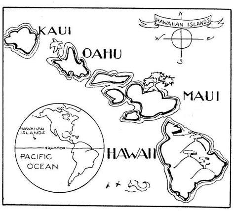hawaiian island colors a to z stuff hawaii map color page hawaii vacation