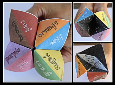 How To Make A Chatterbox Out Of Paper - calculations and paper fortune tellers i miss the